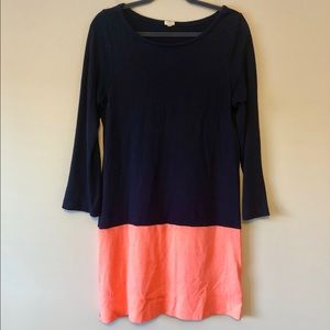 J. Crew Dresses - J. Crew Navy/Coral Dress